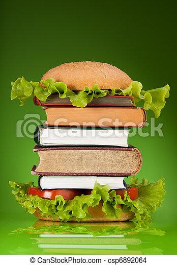 Knowledge fast food - csp6892064