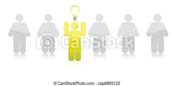 leading idea row illustration - csp6893122