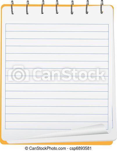Vector notebook - csp6893581