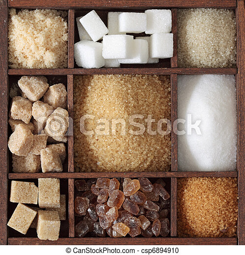 Various kinds of sugar - csp6894910