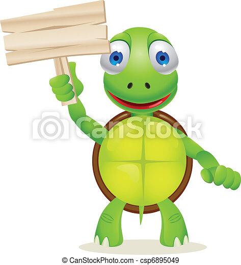 Turtle cartoon - csp6895049