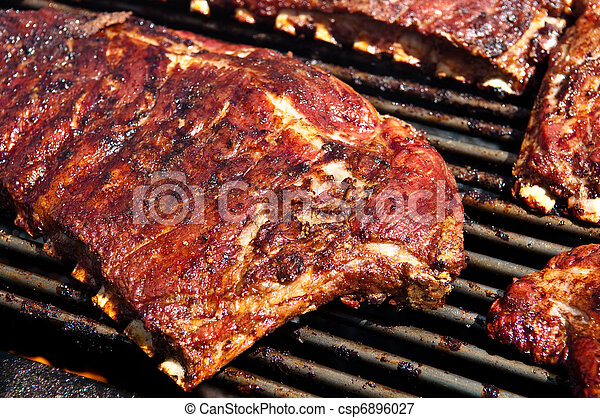 BBQ Ribs on Grill - csp6896027