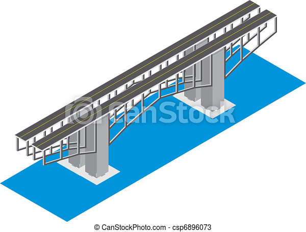 isometric view of the bridge - csp6896073