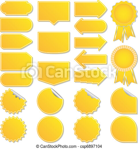 Yellow vector price tags - csp6897104