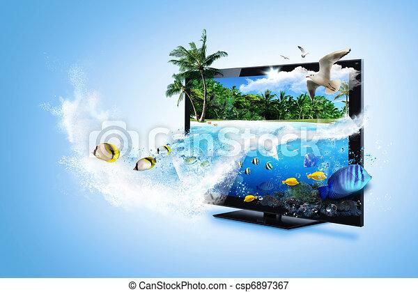 3D,  tv,  -, sentir, a, natureza - csp6897367