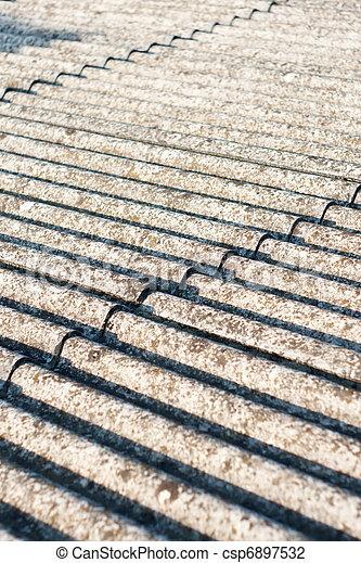 asbestos roof eternit - csp6897532