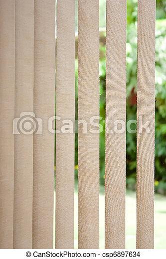 Vertical blinds in sunlight  - csp6897634