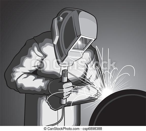 Welder at Work - csp6898388