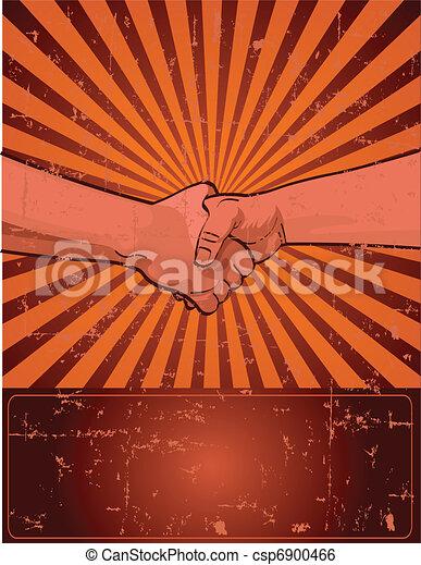 Labor Day Design with worker%u2019s han - csp6900466
