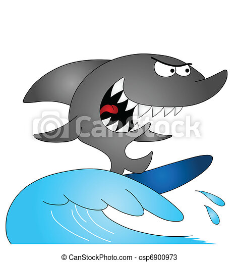 Surfing Shark - csp6900973