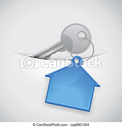 key from the new house in the pocke - csp6901004