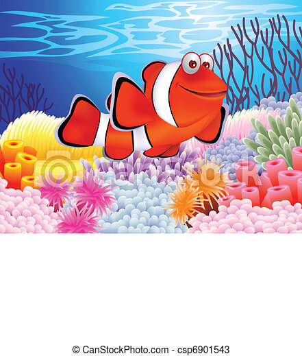 Clown fish cartoon - csp6901543