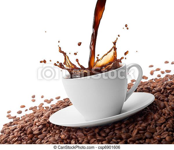 splashing coffee - csp6901606