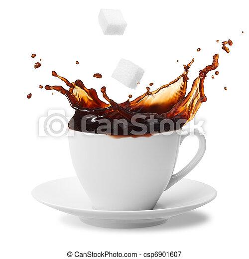 coffee splashing - csp6901607