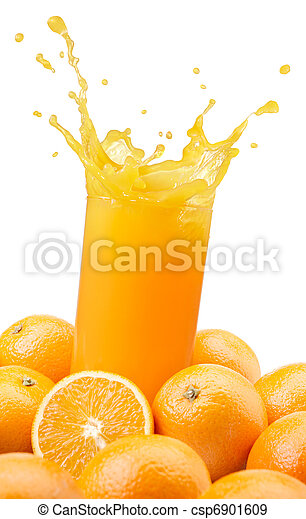 orange juice splashing - csp6901609