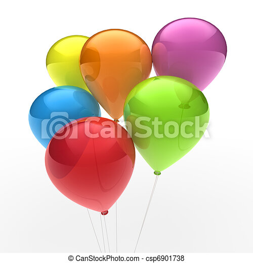 3d ballon colorful - csp6901738