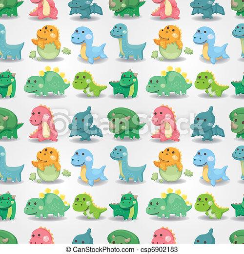 seamless dinosaur pattern  - csp6902183