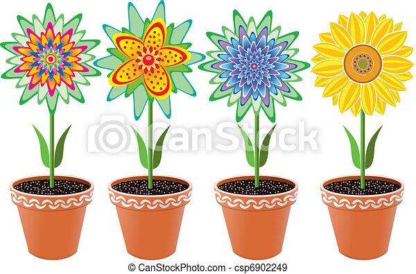 flowers in pots - csp6902249
