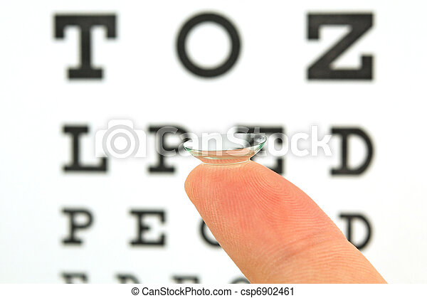 Contact lens and eye test chart  - csp6902461