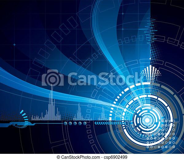 Technology Blue - csp6902499