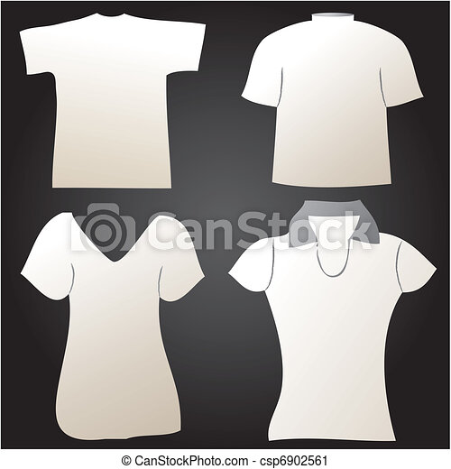 Vector clip art of white t shirt design template for Can you bleach white shirts with logos
