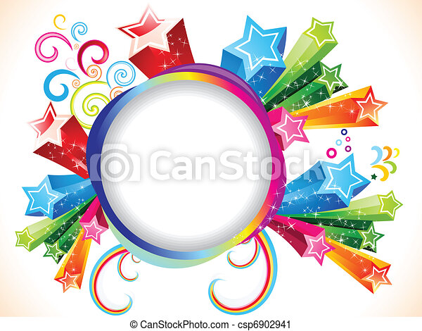 abstract colorful explode template - csp6902941