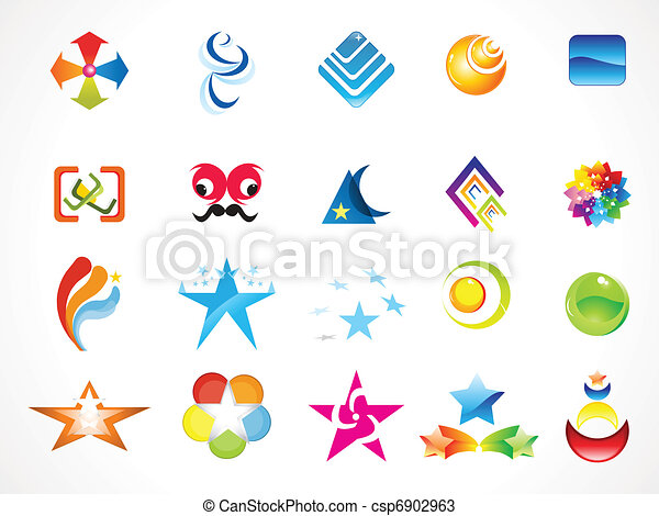 abstract multiple logo templates - csp6902963