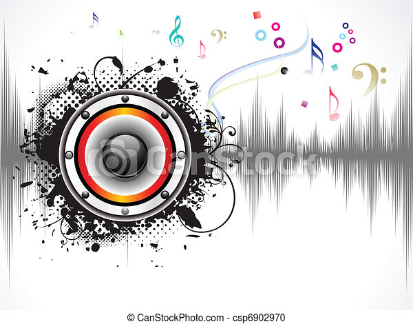 abstract musical sound background - csp6902970