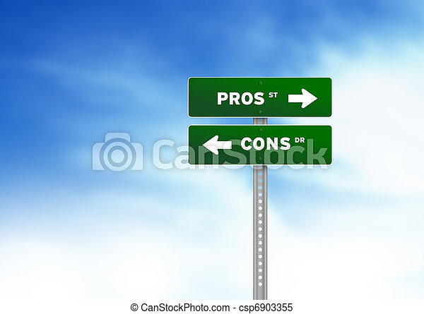 Pros and Cons Road Sign - csp6903355