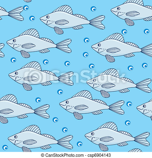 School Fish Drawing Vector School of Fish in The
