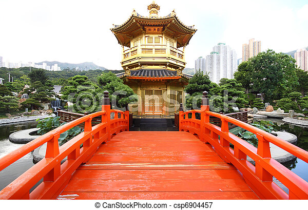 The Pavilion of Absolute Perfection in the Nan Lian Garden, Hong Kong. - csp6904457