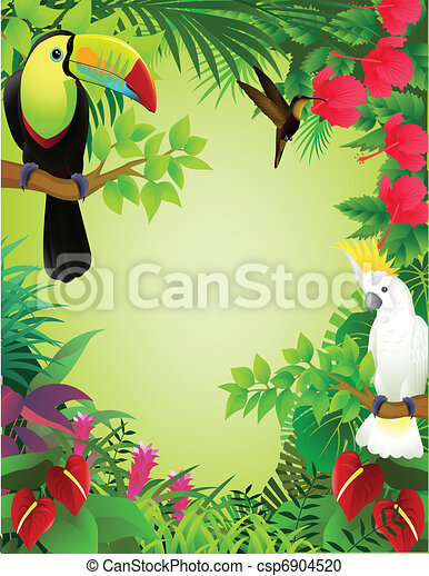 Tropical bird in the jungle - csp6904520