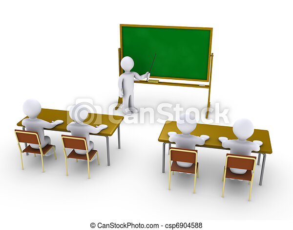 Business training as in school - csp6904588