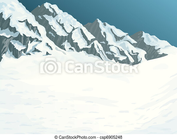 Winter mountains - csp6905248