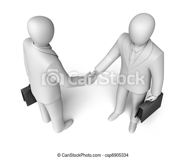 Business people shaking hands - csp6905334