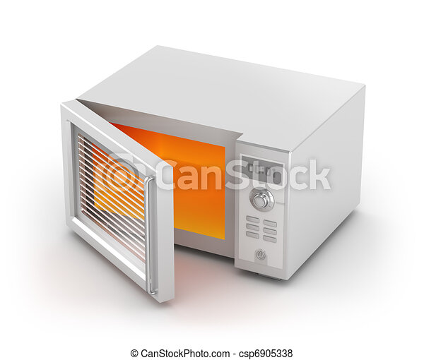 Microwave oven isolated on white - csp6905338