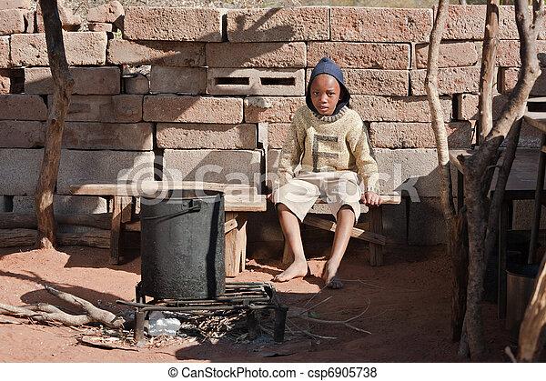 Poor African kid - csp6905738