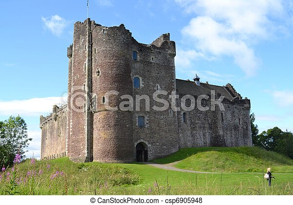 Historic Duone Castle in Scotland - csp6905948
