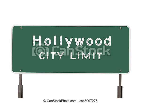 Hollywood City Limits Sign - csp6907278