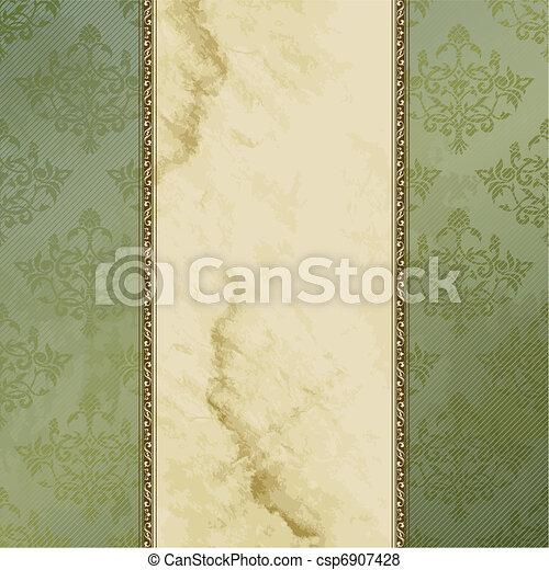Grungy Victorian vintage banner - csp6907428