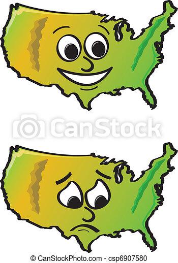 Vector Clip Art de caricatura, estados unidos de américa ...