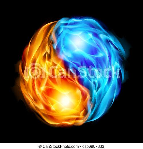 Symbol of yin and yang - csp6907833