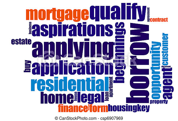 Mortgage word cloud - csp6907969