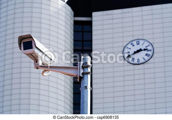 sicurezza, macchina fotografica,  CCTV - csp6908135