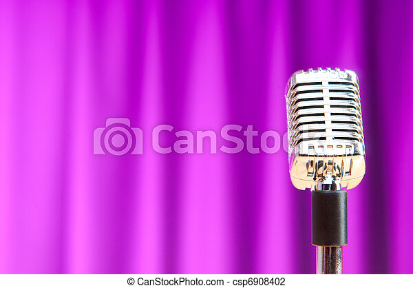 Audio microphone against the background - csp6908402