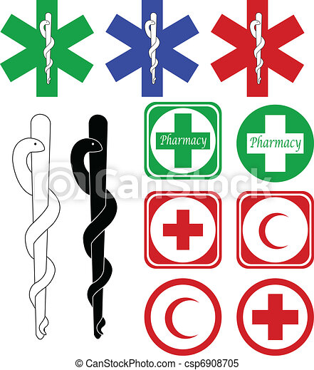 medical and pharmacy icons - csp6908705