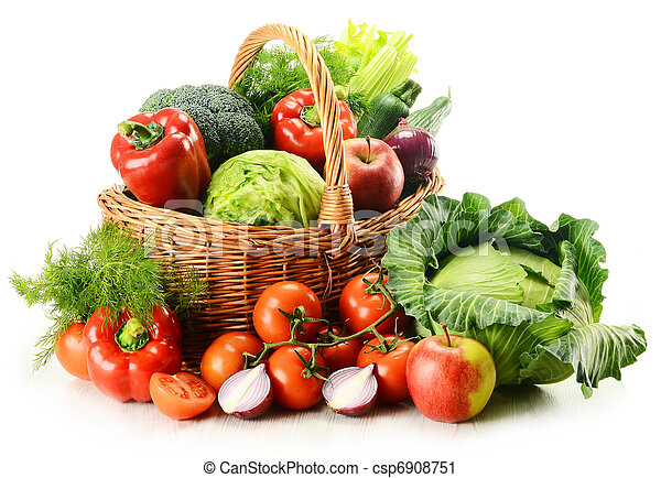 Stock Photography Of Vegetables In Wicker Basket