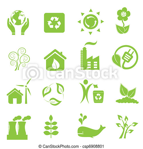 Eco and environment icons - csp6908801