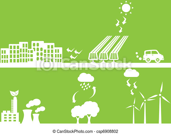 City using renewable energy - csp6908802