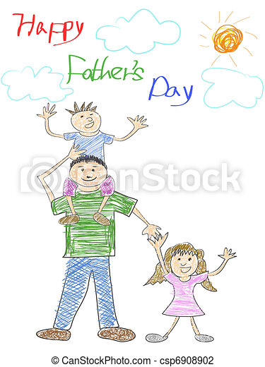 happy father's day card - csp6908902